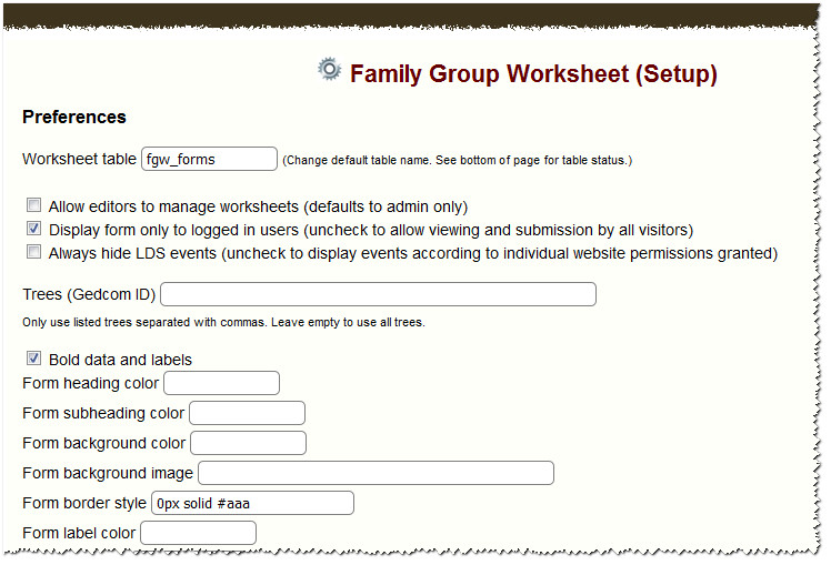 Family Group Worksheet TNGWiki – Functional Group Worksheet